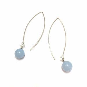 Light Blue Rain Vintage Lucite Drop Earrings